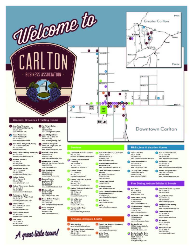 Carlton Business Association Membership Map
