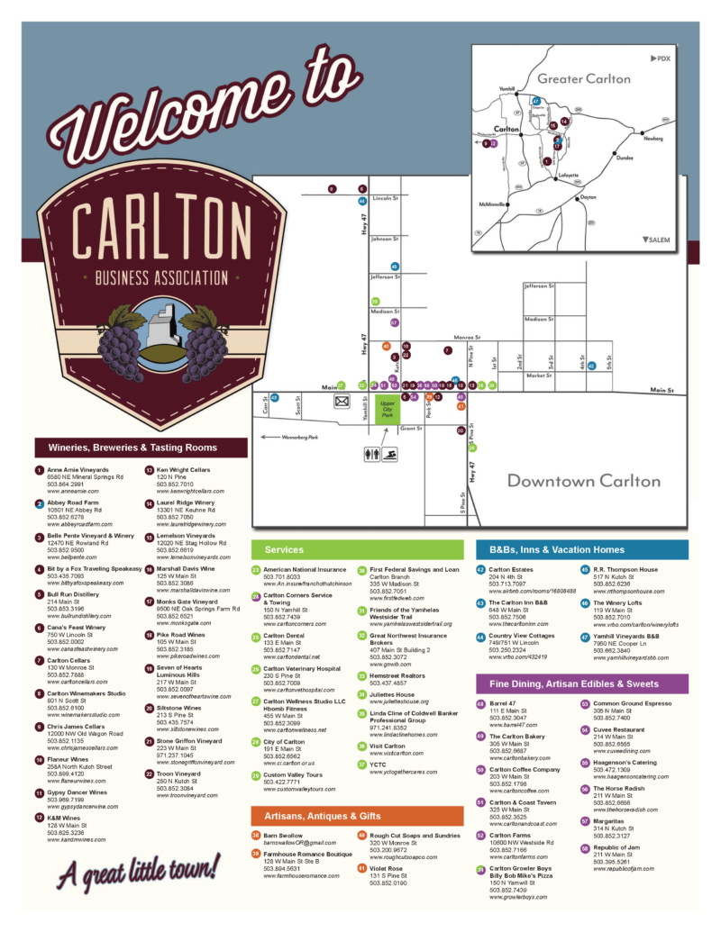 Carlton Business Association Membership Map