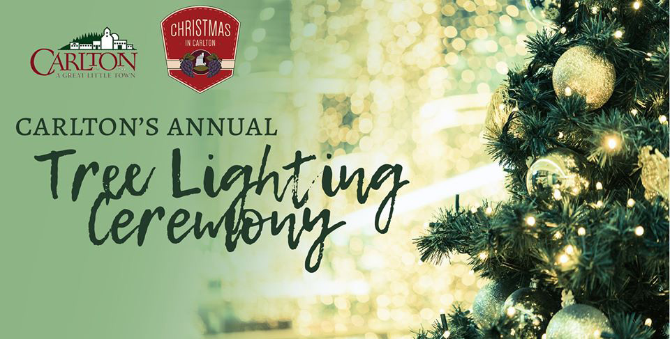 Annual Tree Lighting - Carlton, Oregon - Carlton Business Association - Events